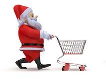 Little santa shopping Royalty Free Stock Photo
