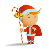 Little santa with stuff and bag Royalty Free Stock Photo