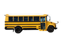 Little School Bus. Bright yellow school bus.  Smaller size, clean and classic Stock Photography