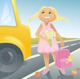 Little school girl Stock Images