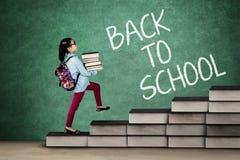 Little school girl Back to School Stock Photography