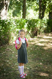 Little school girl. Back to school Royalty Free Stock Photo