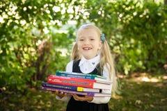 Little school girl. Back to school Royalty Free Stock Photo