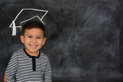 Little schoolboy Stock Photography