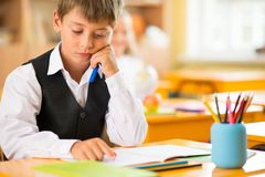 Little schoolboy Stock Photos