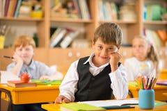 Little schoolboy royalty free stock image
