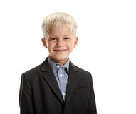 Little schoolboy smiling Royalty Free Stock Photo