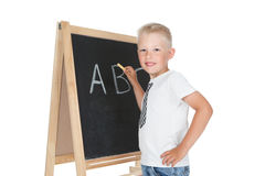 Little schoolboy Stock Photography
