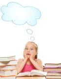 Little schoolgirl Stock Images