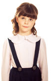 Little schoolgirl Royalty Free Stock Image