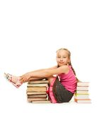 Little schoolgirl Royalty Free Stock Images