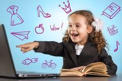Little Schoolgirl Royalty Free Stock Image