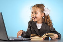 Little Schoolgirl Royalty Free Stock Images