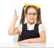 Little schoolgirl isolated Stock Photo
