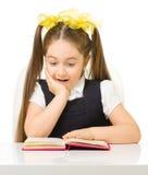 Little schoolgirl isolated Royalty Free Stock Photo