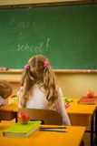 Little schoolgirl Royalty Free Stock Photos