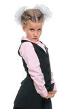 Little schoolgirl Royalty Free Stock Photos