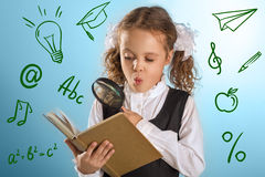 Little Schoolgirl Stock Photography