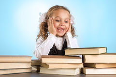 Little Schoolgirl Royalty Free Stock Photo