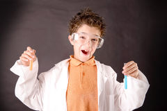 Little scientist Royalty Free Stock Images