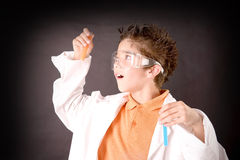Little scientist Stock Photography