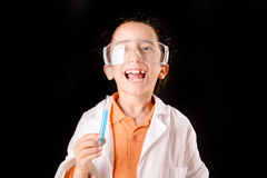 Little scientist Royalty Free Stock Photography