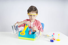 Little scientist Royalty Free Stock Photo
