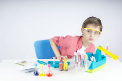 Little scientist Stock Images