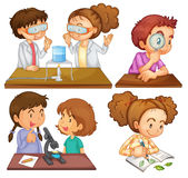 Little scientists Stock Image