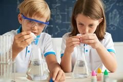 Little scientists stock photo