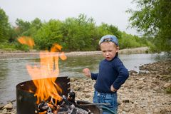 Little scout Royalty Free Stock Photos