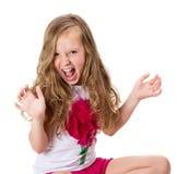 Little screaming girl Stock Photos