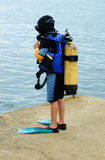 Little scuba diver Royalty Free Stock Images