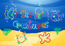 Little sea creatures under the sea Royalty Free Stock Photo