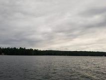 Little Sebago Maine Lake Summertime stock photography