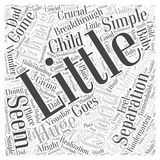 A Little Separation is a Good Thing word cloud concept. A Little Separation is a Good Thing Vector Illustration