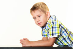 Little serious boy child Royalty Free Stock Photo