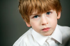 Little serious boy portrait Stock Photo