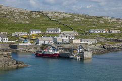 Little settlement on Inishturk island, Ireland. Royalty Free Stock Photo