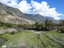 Little settlement near Marpha, Nepal Stock Photography