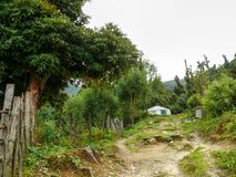 Little settlement on way to Poon Hill Stock Photo