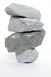 Little shaky. Four rocks one upon the other stock photo