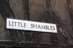 Little Shambles in York Stock Images