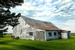 Little shed in a meadow Royalty Free Stock Photo