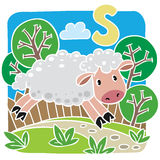 Little sheep. Alphabet S Stock Photography