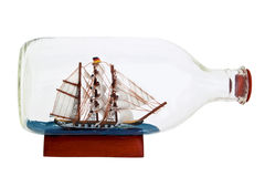 Little ship in a bottle Royalty Free Stock Photo