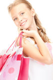 Little shopper Stock Photos