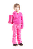 Little shopper in pink Stock Photography
