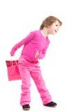 Little shopper in pink Stock Image