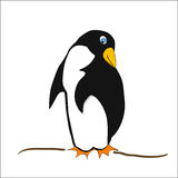 Little shy penguin - comic style Royalty Free Stock Photos